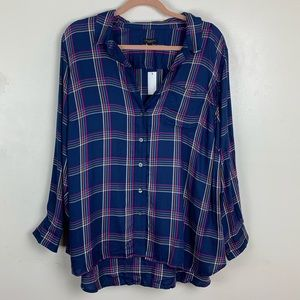 NWT Talbots | Plaid Button Up
